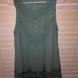 Entro embroidered lace tunic in blue (SM)